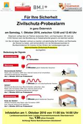 Österreichweite Sirenenprobe